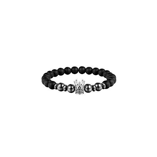 VBTY Beaded Stretch Bracelet, Stone Beads,8Mm Ball Disco Charm Women Bracelet 8Mm Matt Stone Bead Bracelet Men's Jewelry Natural Pearl Bracelet Buddha for Men AS310 20cm