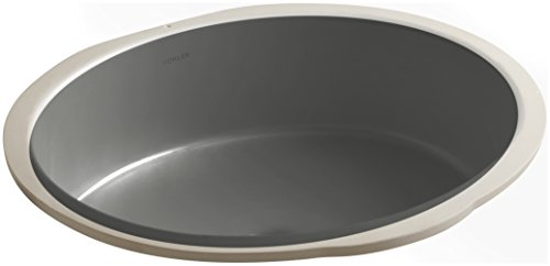 KOHLER K-2881-58 Verticyl Oval Undercounter Bathroom Sink, Thunder Grey