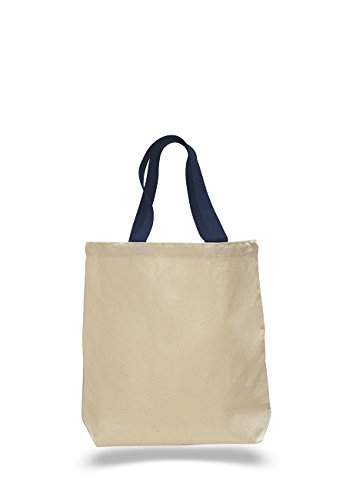 Pack of 6- Promotional Tote Bag with Bottom Gusset & Natural