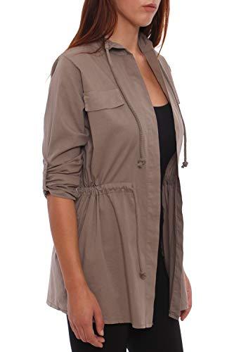 4tuality® S Taille Militaire Xxxl Blazer Streetwear Marron R4wRqHrIF