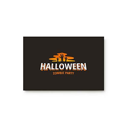 Doormat Entrance Mat Floor Indoor/Bathroom Rug Non Slip,Happy Halloween Zombie Party 20-Inch by 32-Inch