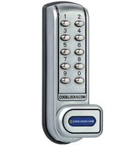 Codelocks CL1200-SG Silver Grey 1200 Heavy Duty Electronic Keypad ...
