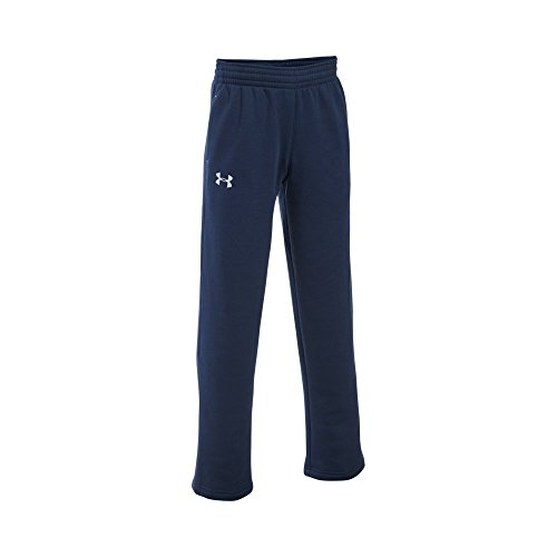 Under Armour Boys' Every Team Fleece Pants, Midnight Navy (410)/White, Youth Small - Under Armour Fleece Sweatpants