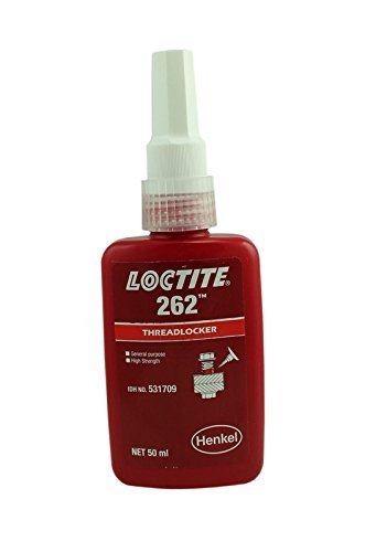 Genuine Henkel Loctite 262 High/Med Strength Torque Tension Threadlocker - 50 ML by LOCTITE 262