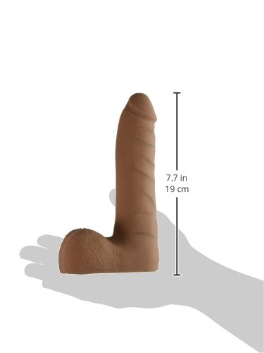 Doc Johnson The Realistic Cock with Removable Suction Cup- ULTRASKYN - Slim - 7 Inch - F-Machine and Harness Compatible Dildo - Caramel by Doc Johnson (Image #5)