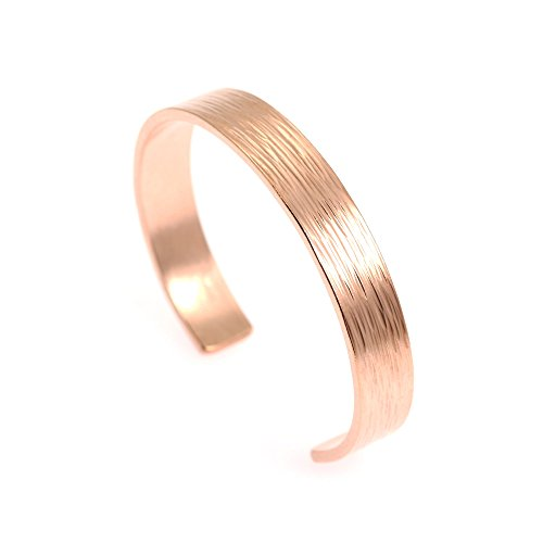 - 10mm Wide Bark Copper Cuff Bracelet by John Brana Handmade Jewelry 100% Uncoated Solid Copper Cuff (8 Inches)