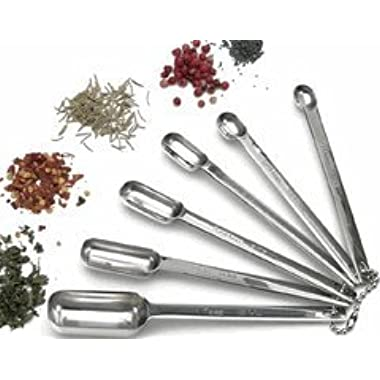 RSVP International Measuring Spoons for Spices, 6 Pieces