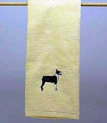 (Hand Towel: Boston Terrier)
