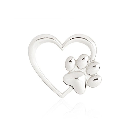 (Cute Animal Dog Pet Paw Heart Shape Brooch Cat Kitten Claw Puppy Paw Coat Collar Pins for Women Girl Pet Lovers Bag Badge)