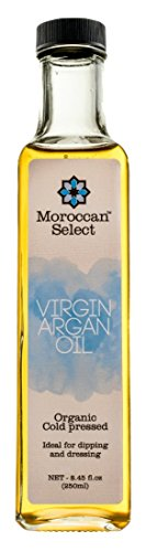 Culinary Argan Oil by Moroccan Select (8.45 Ounces) | This Edible Argan Oil is a Great Bread Dipping Oil, Alternative for Olive Oil Salad Dressing and a Great Gourmet Argan Oil for Cooking by Moroccan Select