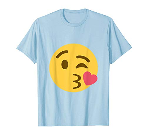 Kiss Emoji Face T-Shirt With Heart