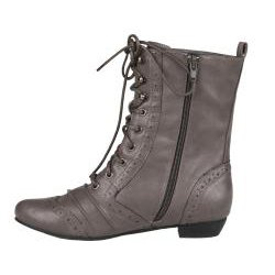 Refresh Lee-01 Women's Mid Calf Combat Boots on Oxford Structure - stylishcombatboots.com
