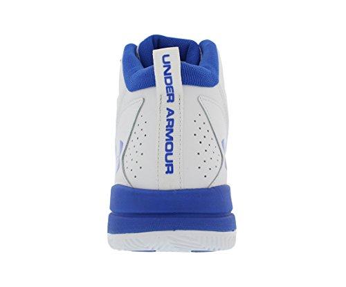 de Baloncesto para Armour Under Niños Blanco Zapatillas BGS Azul UA Jet Mid 1x4YxwqZT0