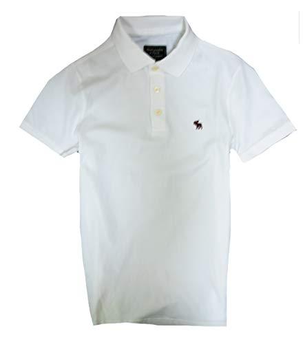 Abercrombie & Fitch Men's Polo Shirt (White, S) Abercrombie Fitch Mens Polo