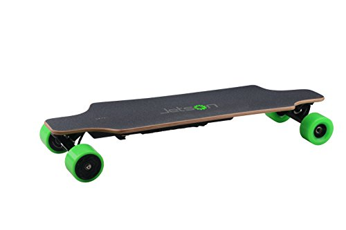 Jetson E-Punk 35″ Electric Longboard w/ Remote – Up to 25 MPH Top Speed, 20-25 Mile Range, 285 LB Rider Weight, 3 Hr Charge Time – Neon Green Wheels