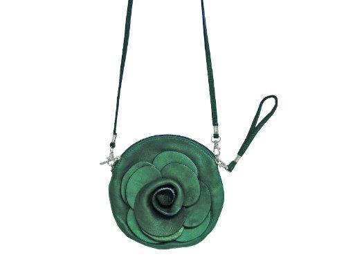 Scarlet Bijoux–Bolso de piel en diferentes colores 17x 17,7x 0,9cm (B X H X T) Verde - verde