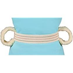 DMI Cotton Physical Therapy Gait Belt Patient Transfer Belt with Soft Fleece Handles, Quick Release, 50 Inches