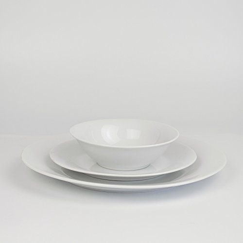 Winnsoma Elegante 18-Piece White Porcelain Dinnerware Set, Service For 6. Complete Set With 6 Dinner Plates, 6 Side Plates And 6 Small Bowls by Winnsoma (Image #4)