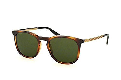 Gucci GG 1130/S QWR1E (Havana - Gold with Green - Case Gucci Sunglasses