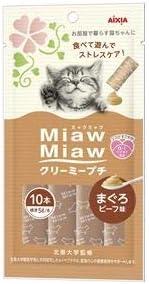 (まとめ)MiawMiaw クリーミープチ まぐろビーフ味 10本 (ペット用品・猫フード)【×48セット】 〈簡易梱包