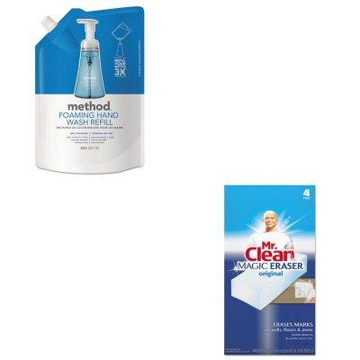 (KITMTH00667PAG82027 - Value Kit - Method Foaming Hand Wash Refill (MTH00667) and Mr. Clean Magic Eraser Foam Pad (PAG82027))