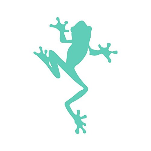 Climbing Frog Amphibian Biology - Vinyl Decal for Outdoor Use on Cars, ATV, Boats, Windows and More - Mint 5 inch (Mint Frog)