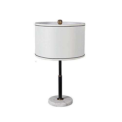 Mesita de luz de la lampara, simple tela lampara de mesa, base de marmol natural lampara de mesa, lampara de cabecera del dormitorio Ronda, Sala, Mesa de comedor, oficina