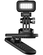 GoPro Zues Mini Rechargeable LED Magnetic 360 Degree Swivel Clip Light with Brightness Between 20 – 200 Lumens, Handsfree, Waterproof, and Compatible with a GoPro Mounts