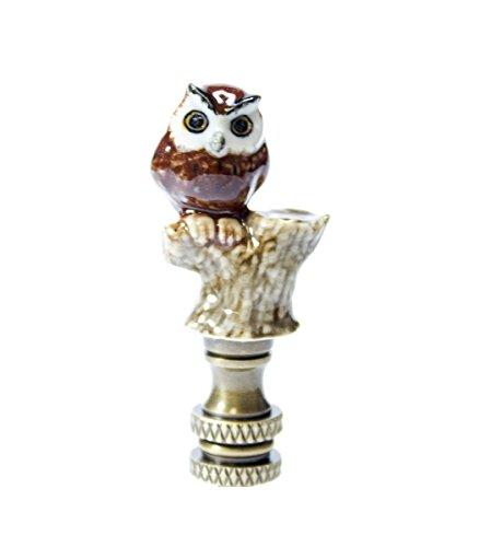 - Owl on Branch Porcelain Finial