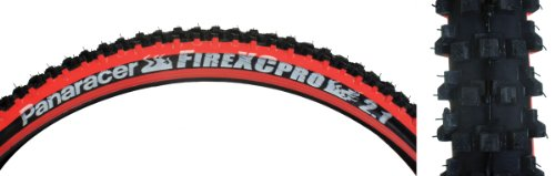 panaracer Fire XC Pro Bicycle Tire (Wire Bead, 26x2.1, Black/Red) (Best Mtb Tires For Rocky Terrain)