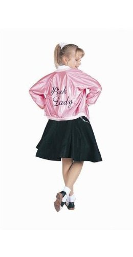 RG Costumes 50's Pink Lady Jacket, Child Small/Size 4-6 (50s Pink Poodle Girls Costume)