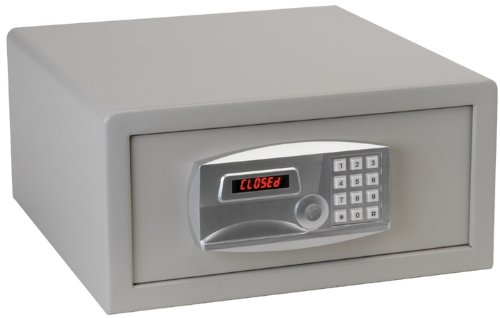 Gary LT1507 Laptop Size Electronic Fire Safe with Key, 34lbs, 1.2 Cu. Ft., Light Gray - Fire King Laptop