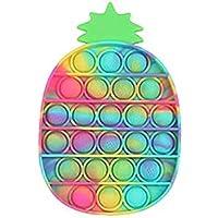 YIMEIM Pop It Ananas, decompressie-ananasseelspeelgoed, kleurrijk, milieuvriendelijk, duurzaam, zacht, wasbaar…