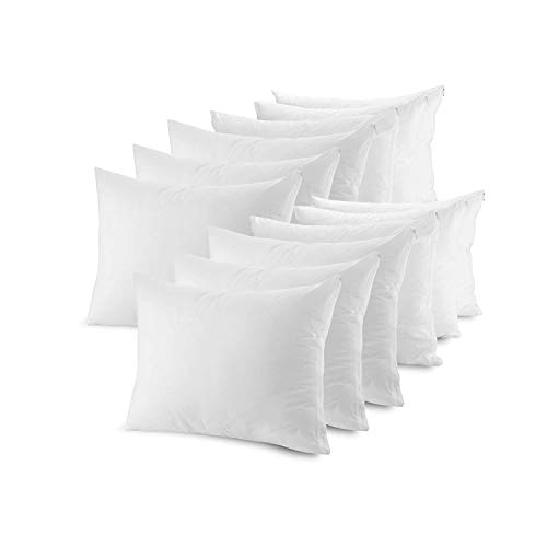 Mastertex Pillow Protectors Zippered Cases | Poly Cotton Pillow Covers Hypoallergenic | Breathable and Quiet (Standard Set of 12)