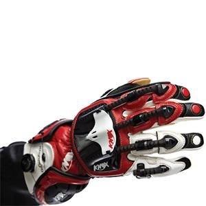 Knox Handroid Hand Armor Gloves - Medium/Red