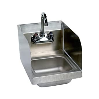 Stainless Steel Hand Sink With Side Splash   NSF   Commercial Equipment  10u0026quot; ...