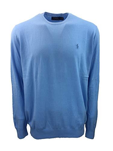 Polo Ralph Lauren Men's Big & Tall Crew Neck Cashmere Blend Pullover Sweater (LT, Essex ()