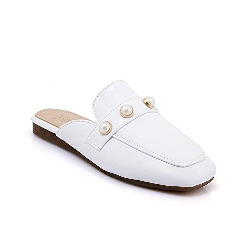 Vintage Plat à White Flip Chaussures Grande Tête Flop Taille Femme Sandales Carrée 46qxwY7S