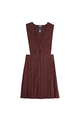 French Toast V-Neck Pleated Jumper Girls Burgundy (French Toast V-neck Jumper)