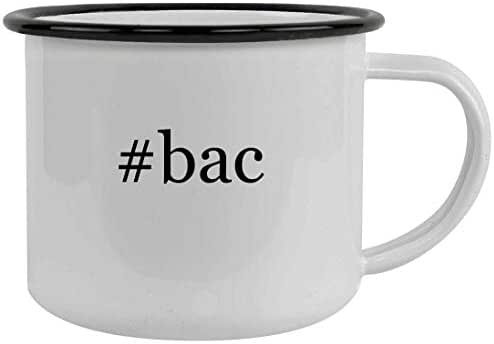 #bac - 12oz Hashtag Stainless Steel Camping Mug, Black
