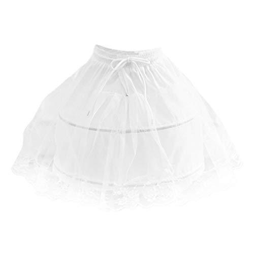 LUOEM Meisjes Hoepel Petticoat Korte Hoepelrok Onderrok Kanten Onderrok Wit Korte Petticoat Voor Kinderen Meisjes…
