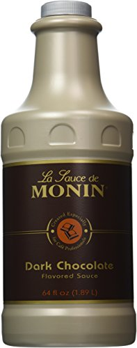Monin Gourmet Dark Chocolate Sauce, 64 oz bottle