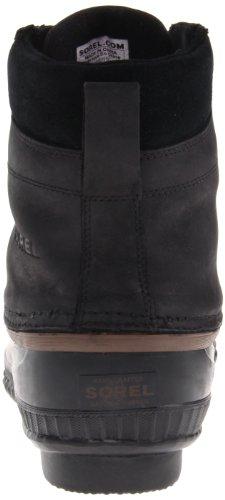 Sorel Cheyanne Lace Full Grain - Zapatos de Cordones de cuero hombre negro - Noir (010 Black)