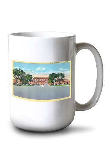 Lantern Press Ogden, Utah - Exterior View of The Ogden Union Depot (15oz White Ceramic Mug) ()