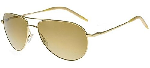Oliver Peoples OV1002S Benedict Sunglasses Black Chrome Frame Polarized 62 - Oliver Peoples Benedict
