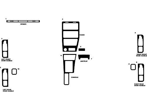 - Rdash Dash Kit Decal Trim for Saturn 1990-1994 - Matte (Silver)
