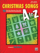 Alfred Christmas Songs A to Z Five Finger Piano Book (Piano Sheet Music Easy Adult)
