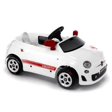 f20074059a Auto Elettrica per Bambini Fiat 500 Abarth Bianca Macchina da Guidare per  Bimbo