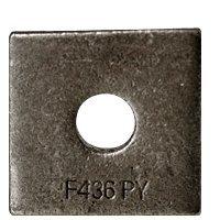 3/4'' Square Beveled F436 Hardened Washer Plain Finish (Quantity: 200 pcs) - Inside Diameter: 3/4'' inches