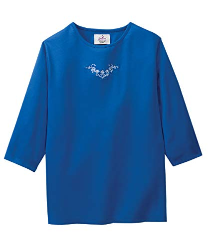 Womens Adaptive Top - Clothing for Disabled Adults - Classic Blue LGE from Silvert's